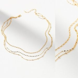 HTF NWT ANTHROPOLOGIE Artemis Layered Necklace
